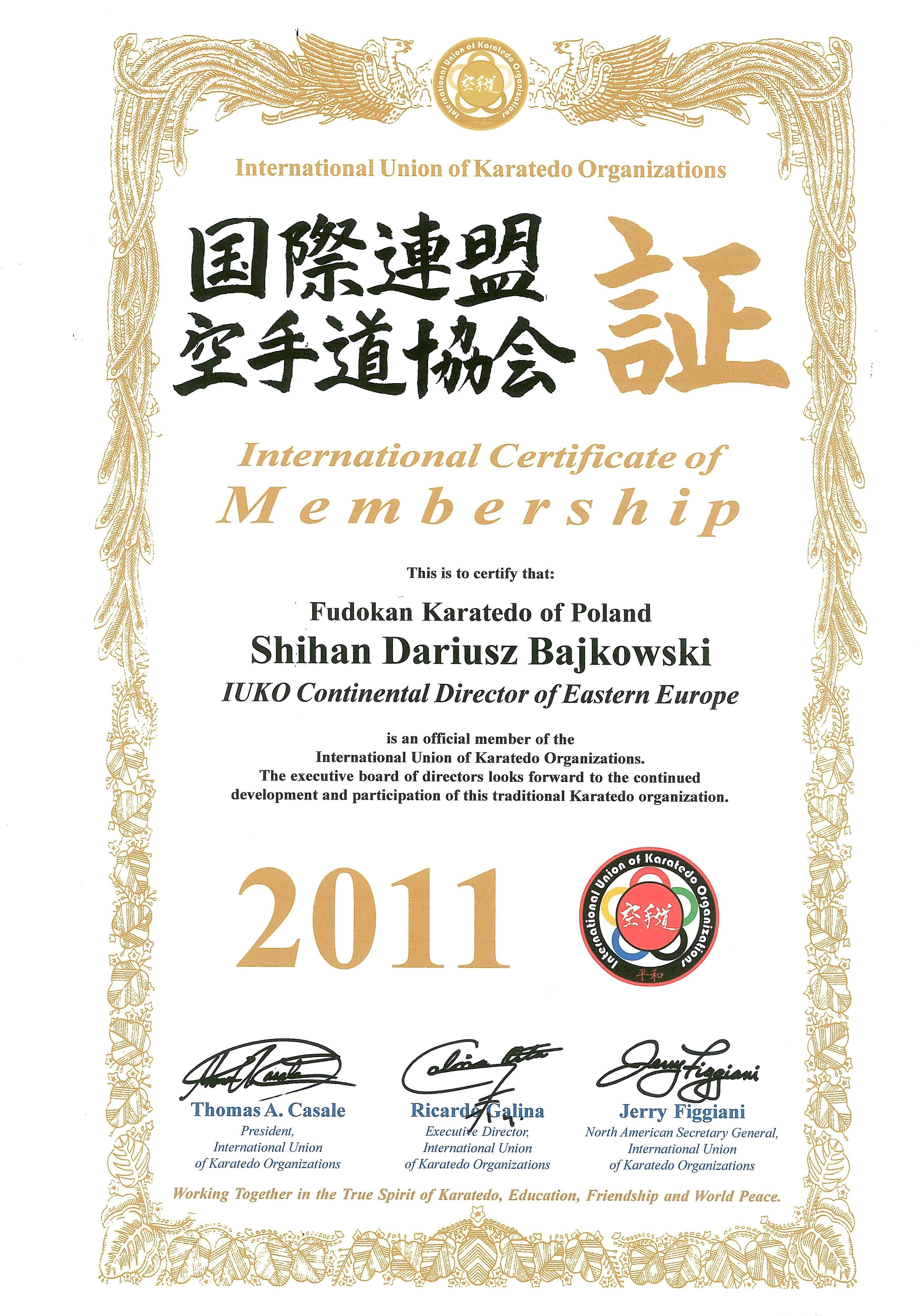 Dariusz-Bajkowski-certyfikat-IUKO-2011